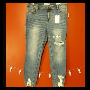 Plus Skinny Ripped Jean